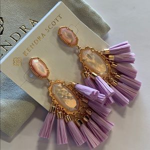 Kristen earrings rose gold lilac mother of pearl